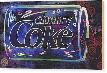 Cherry Coke 8 Wood Print by John Keaton