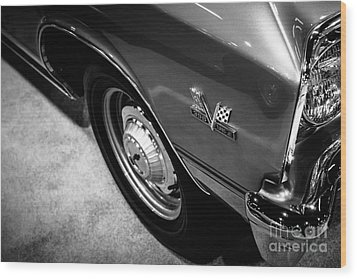 Chevrolet Chevelle 396 Black And White Picture Wood Print by Paul Velgos