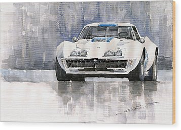 Chevrolet Corvette C3 Wood Print by Yuriy  Shevchuk