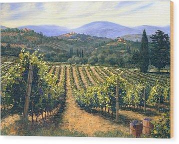 Chianti Vines Wood Print by Michael Swanson