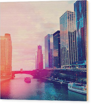 Chicago #1 Wood Print by Stacia Blase