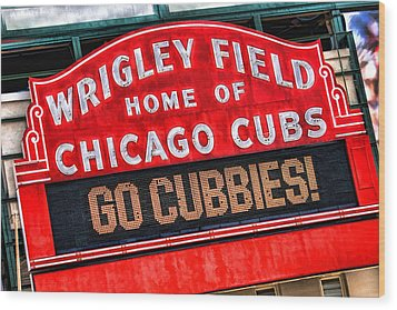 Chicago Cubs Wrigley Field Wood Print by Christopher Arndt