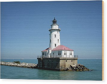 Chicago Lighthouse Wood Print by Julie Palencia