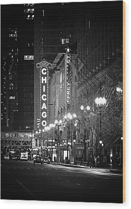 Chicago Theatre - Grandeur And Elegance Wood Print by Christine Till