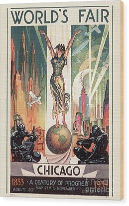 Chicago World's Fair 1933 Wood Print by Granger