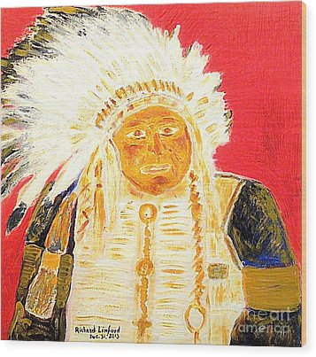 Chief Seattle 1 Wood Print by Richard W Linford