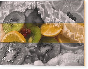 Chilled Wood Print by KJ Bruce - Infinity Fusion Art