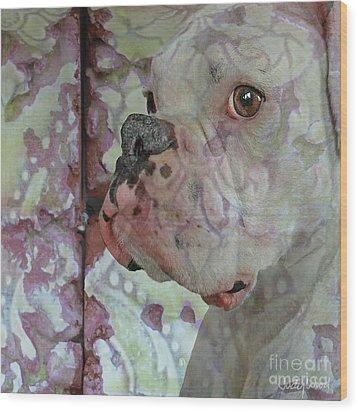 China Dog Wood Print by Judy Wood