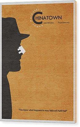 Chinatown Wood Print by Ayse Deniz
