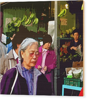 Chinatown Marketplace Wood Print by Joseph Coulombe