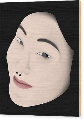 Chinese Girl Wood Print by Sara Ponte
