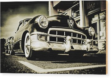 Chopped Cadillac Coupe Wood Print by motography aka Phil Clark