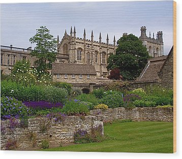 Christ Church In Spring Wood Print by Rona Black