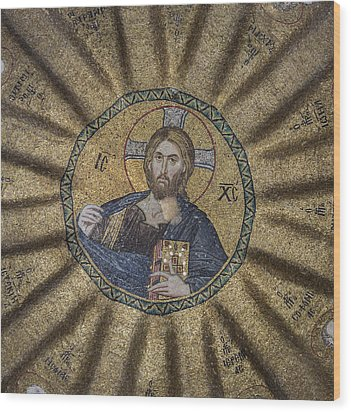 Christ Pantocrator Surrounded By The Prophets Of The Old Testament 1 Wood Print by Ayhan Altun
