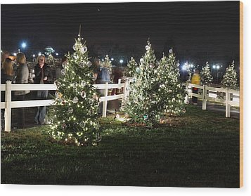 Christmas At The Ellipse - Washington Dc - 01133 Wood Print by DC Photographer