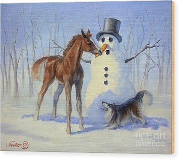 Christmas Bounty Wood Print by Jeanne Newton Schoborg