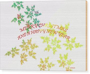 Christmas Card I Wood Print by Tatjana Popovska
