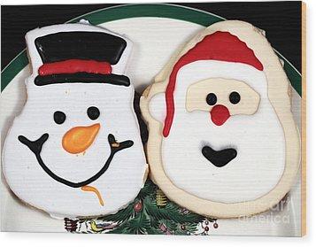Christmas Cookies Wood Print by John Rizzuto