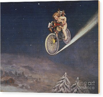 Christmas Delivery Wood Print by Jose Frappa
