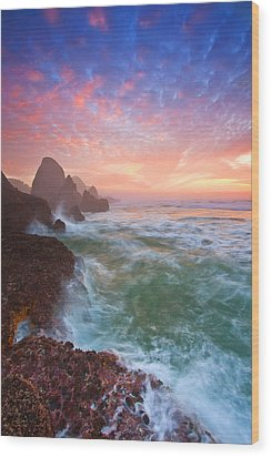 Christmas Eve Sunset Wood Print by Darren  White