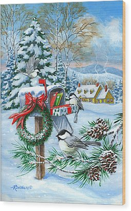 Christmas Mail Wood Print by Richard De Wolfe