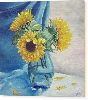 Chrysanthemums Wood Print by Sorin Apostolescu