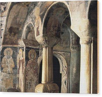 Church Of Saint Naum. Macedonia. Ohrid Wood Print by Everett