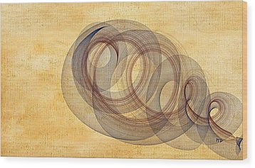 Circle Of Life Wood Print by Marian Palucci-Lonzetta