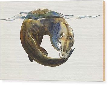 Circle Of Life Wood Print by Mark Adlington