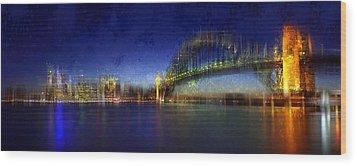 City-art Sydney Wood Print by Melanie Viola