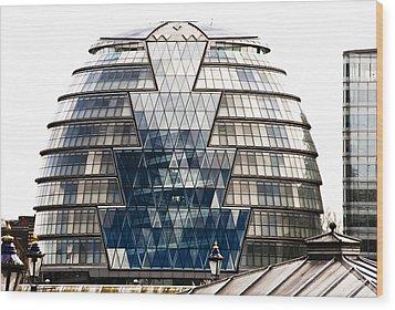 City Hall London Wood Print by Christi Kraft