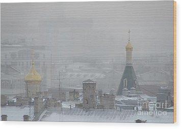 City Mist 1 Wood Print by Anna Yurasovsky