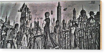City Of Babel  Wood Print by George Harrison