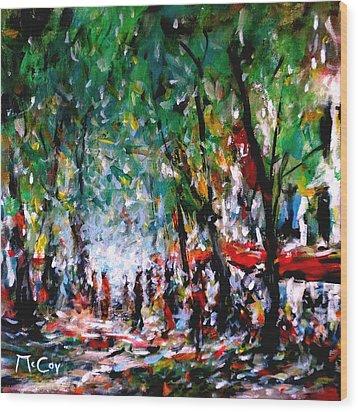 City Promenade Wood Print by K McCoy