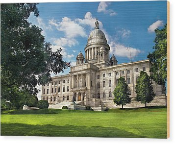 City - Providence Ri - The Capitol  Wood Print by Mike Savad