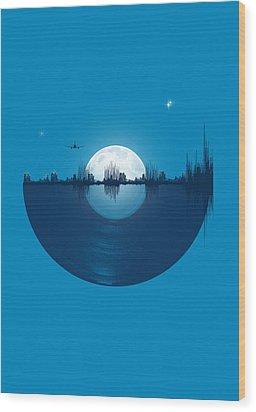 City Tunes Wood Print by Neelanjana  Bandyopadhyay