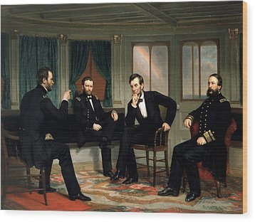 Civil War Union Leaders -- The Peacemakers Wood Print by War Is Hell Store
