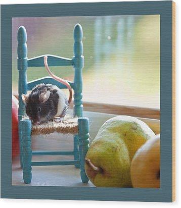 Clara's Favorite Chair Wood Print by Theresa Tahara