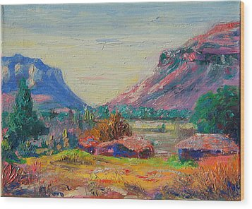 Clarence Mountain Free State South Africa Wood Print by Thomas Bertram POOLE