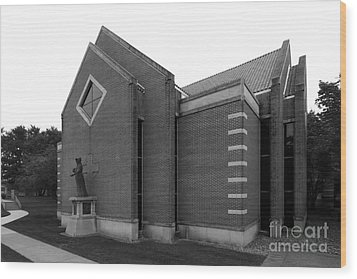 Clarke University Sacred Heart Chapel Wood Print by University Icons