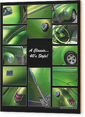 Classic 40s Style - Poster Wood Print by Gary Gingrich Galleries