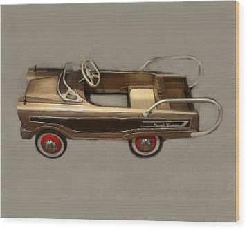 Classic Ranch Wagon Pedal Car Wood Print by Michelle Calkins
