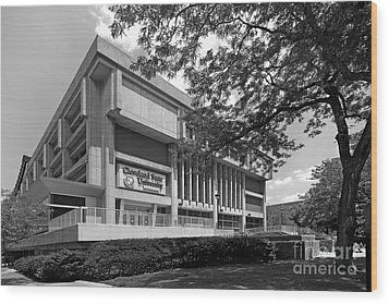 Cleveland State University Center Wood Print by University Icons