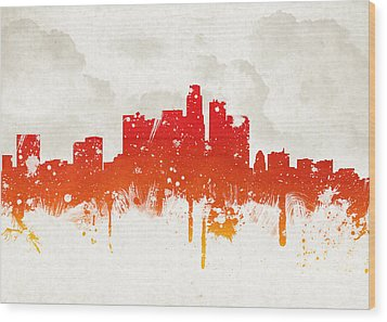 Clouds Over Los Angeles California Wood Print by Aged Pixel
