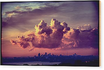 Clouds Rolling Wood Print by Andrei SKY