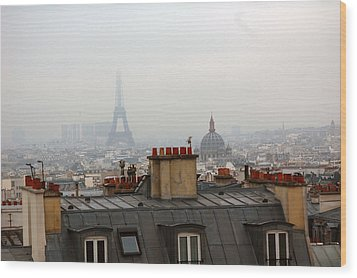 Cloudy Day In Paris Wood Print by Peter Cassidy
