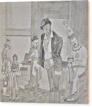 Clown Bar Wood Print by George Harrison