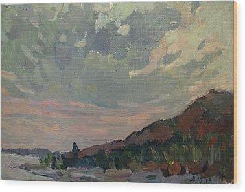 Coast At Sunset Wood Print by Juliya Zhukova