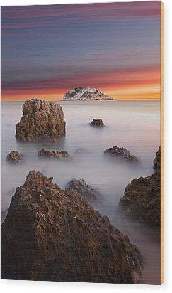 Coastal Glory Wood Print by Jorge Maia