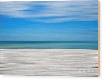 Coastal Horizon 10 Wood Print by Delphimages Photo Creations